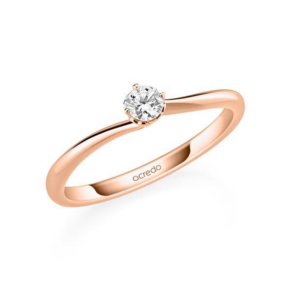 Verlobungsring Diamantring 0,15 ct. tw, si Rotgold 585