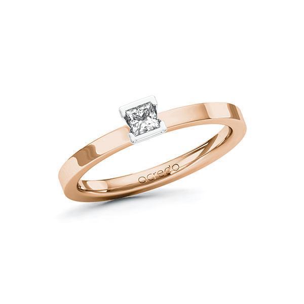 Verlobungsring Diamantring 0,15 ct. tw, si Rotgold 585 Weißgold 585