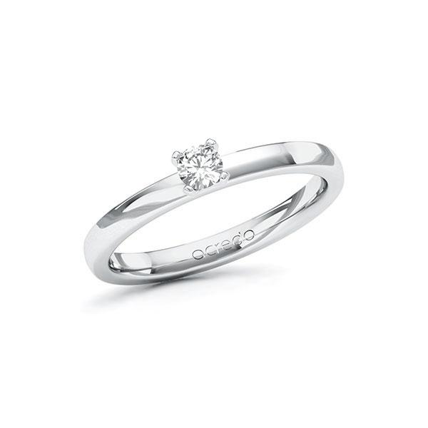 Verlobungsring Diamantring 0,15 ct. tw, si Weißgold 585