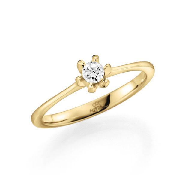 Verlobungsring Diamantring 0,15 ct. tw, vs Gelbgold 585