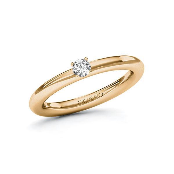 Verlobungsring Diamantring 0,15 ct. tw, vs Roségold 585
