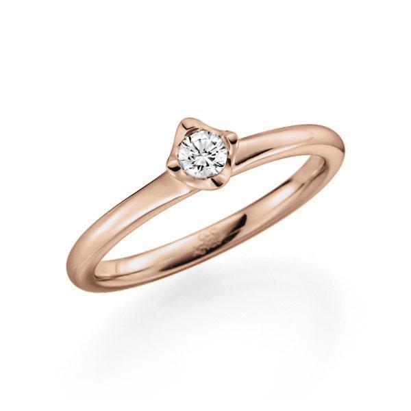 Verlobungsring Diamantring 0,15 ct. tw, vs Rotgold 585
