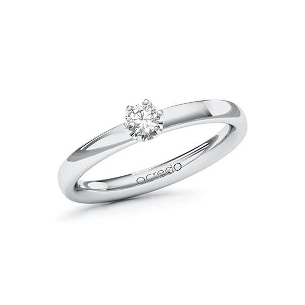 Verlobungsring Diamantring 0,15 ct. tw, vs Weißgold 585