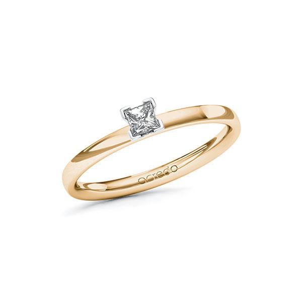 Verlobungsring Diamantring 0,15ct. tw, si Roségold 585 Weißgold 585