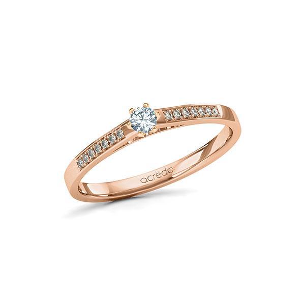 Verlobungsring Diamantring 0,17 ct. tw, si Rotgold 585