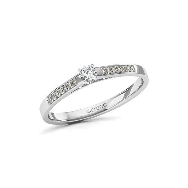 Verlobungsring Diamantring 0,17 ct. tw, si Weißgold 585