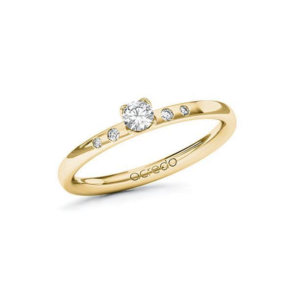 Verlobungsring Diamantring 0,18 ct. tw, si Gelbgold 585