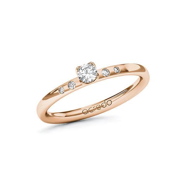 Verlobungsring Diamantring 0,18 ct. tw, si Rotgold 585