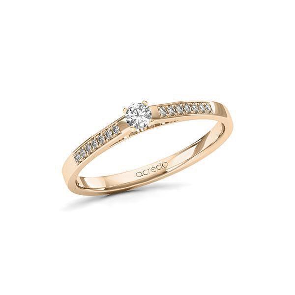 Verlobungsring Diamantring 0,19 ct. tw, si Signature Gold 585