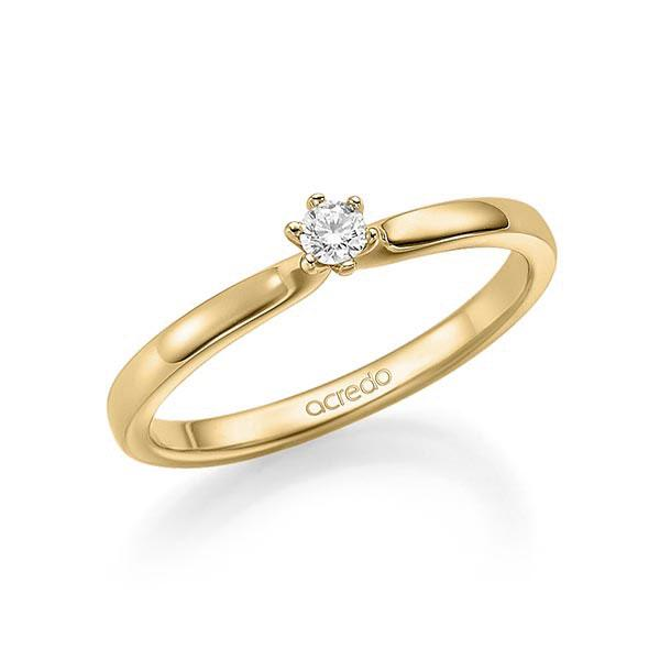 Verlobungsring Diamantring 0,1 ct. tw, si Gelbgold 585