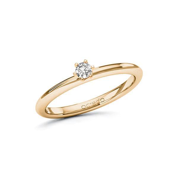 Verlobungsring Diamantring 0,1 ct. tw, si Roségold 585