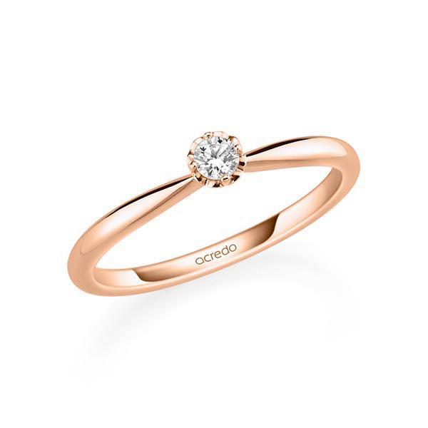 Verlobungsring Diamantring 0,1 ct. tw, si Rotgold 585