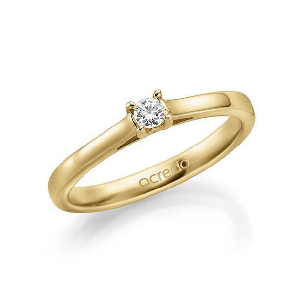 Verlobungsring Diamantring 0,1 ct. tw, vs Gelbgold 585