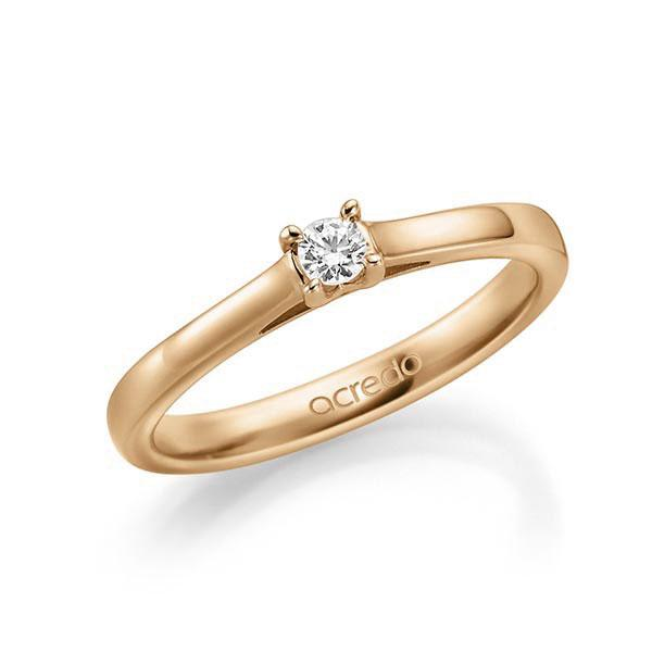 Verlobungsring Diamantring 0,1 ct. tw, vs Roségold 585