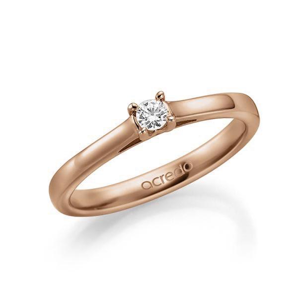 Verlobungsring Diamantring 0,1 ct. tw, vs Rotgold 585