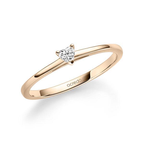 Verlobungsring Diamantring 0,1 ct. tw, vs Signature Gold 585