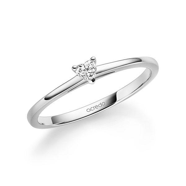 Verlobungsring Diamantring 0,1 ct. tw, vs Weißgold 585