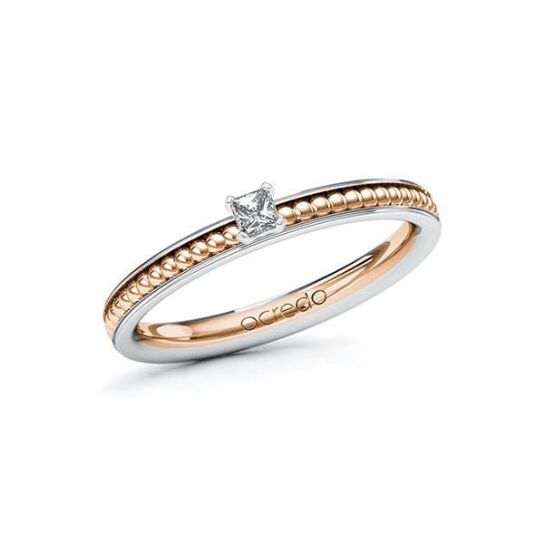 Verlobungsring Diamantring 0,1 ct. tw, vs Weißgold 585 Rotgold 585