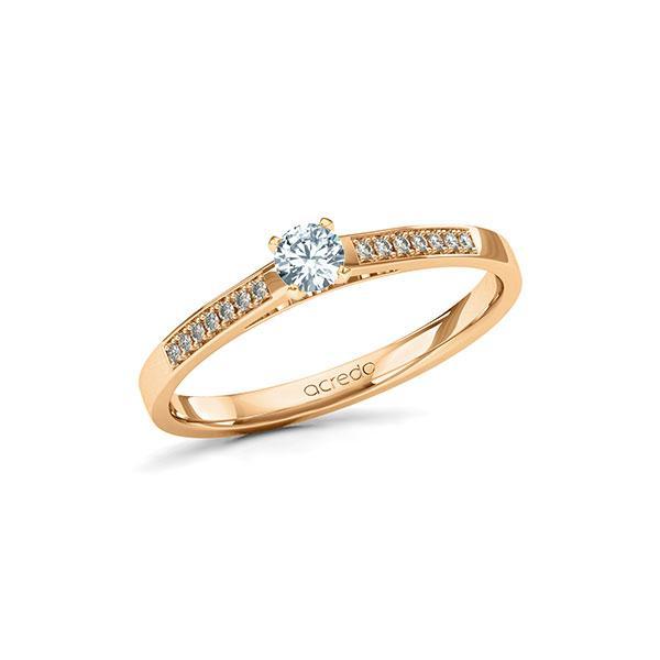 Verlobungsring Diamantring 0,22 ct. tw, si Roségold 585
