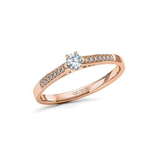 Verlobungsring Diamantring 0,22 ct. tw, si Rotgold 585