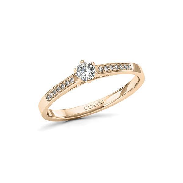 Verlobungsring Diamantring 0,22 ct. tw, si Signature Gold 585