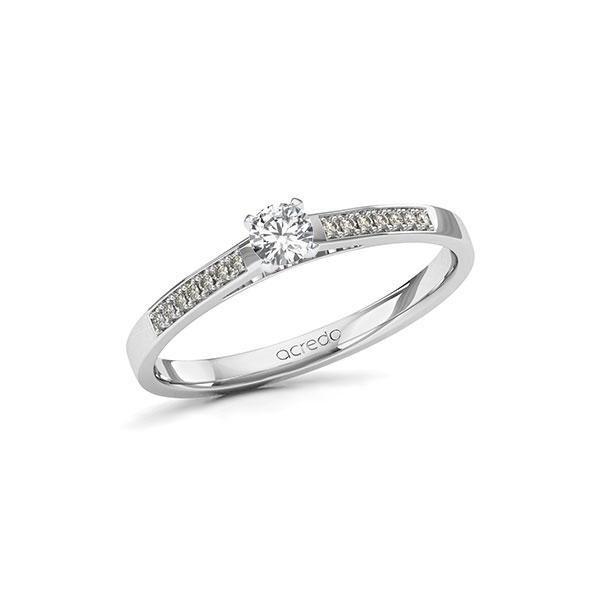 Verlobungsring Diamantring 0,22 ct. tw, si Weißgold 585