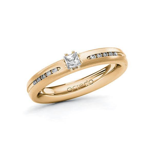 Verlobungsring Diamantring 0,23 ct. tw, si Roségold 585