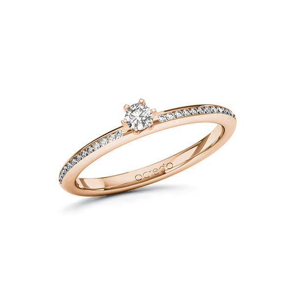 Verlobungsring Diamantring 0,23 ct. tw, si Rotgold 585
