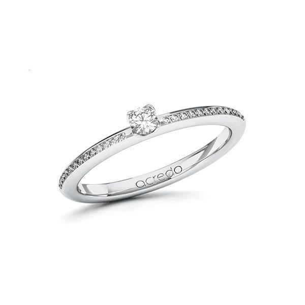 Verlobungsring Diamantring 0,23 ct. tw, si Weißgold 585