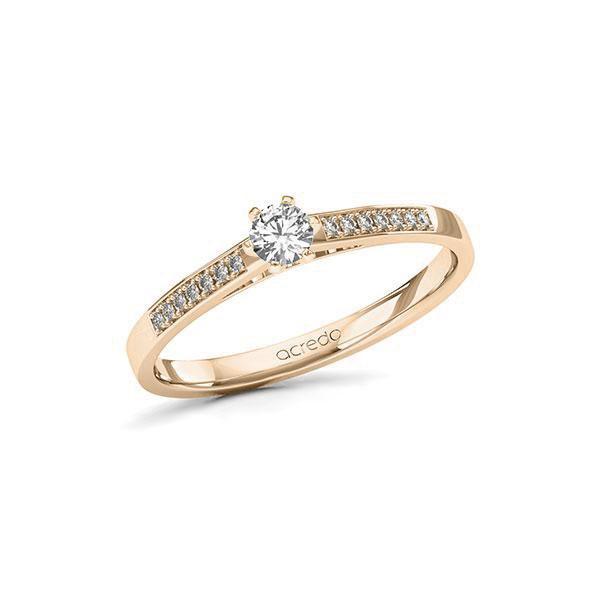 Verlobungsring Diamantring 0,24 ct. tw, si Signature Gold 585