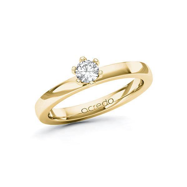 Verlobungsring Diamantring 0,25 ct. tw, si Gelbgold 585