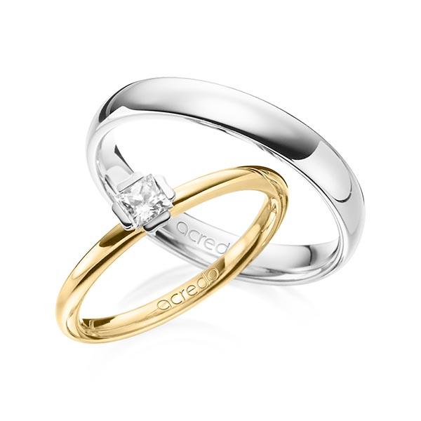 Verlobungsring Diamantring 0,25 ct. tw, si Gelbgold 585 Weißgold 585