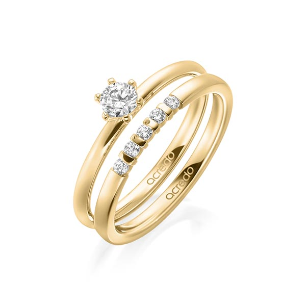 Verlobungsring Diamantring 0,25 ct. tw, si Gelbgold 750