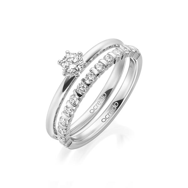 Verlobungsring Diamantring 0,25 ct. tw, si Platin 950
