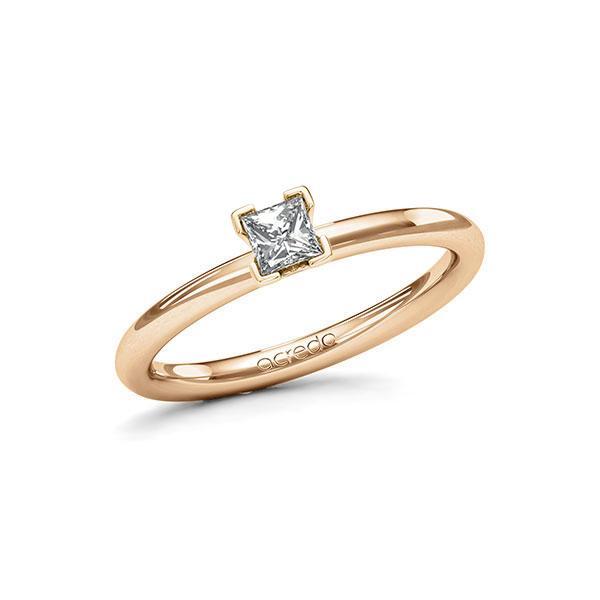 Verlobungsring Diamantring 0,25 ct. tw, si Roségold 585
