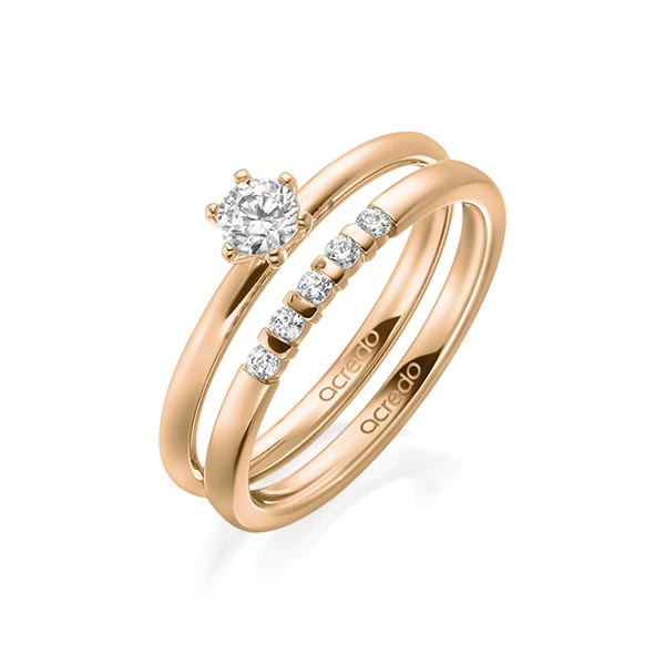 Verlobungsring Diamantring 0,25 ct. tw, si Roségold 750