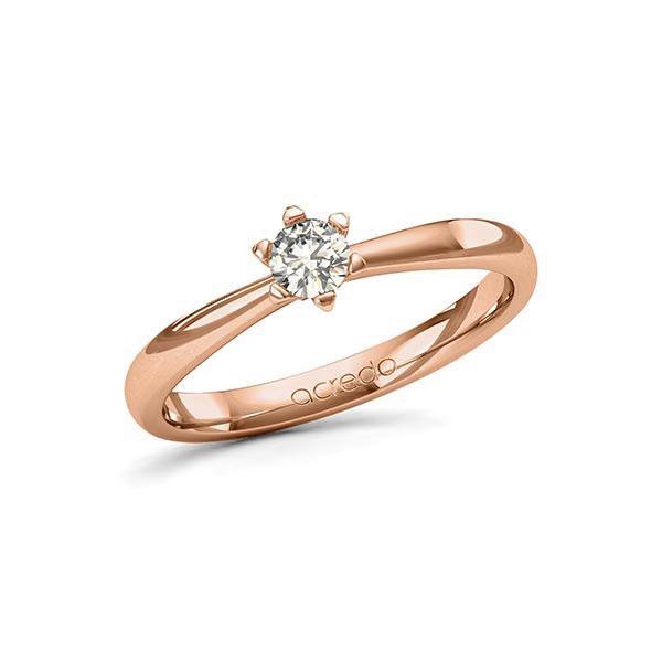 Verlobungsring Diamantring 0,25 ct. tw, si Rotgold 585