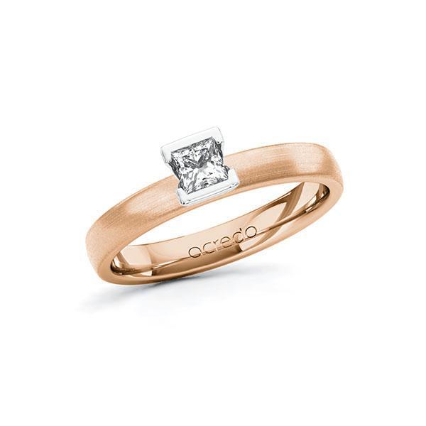 Verlobungsring Diamantring 0,25 ct. tw, si Rotgold 585 Weißgold 585