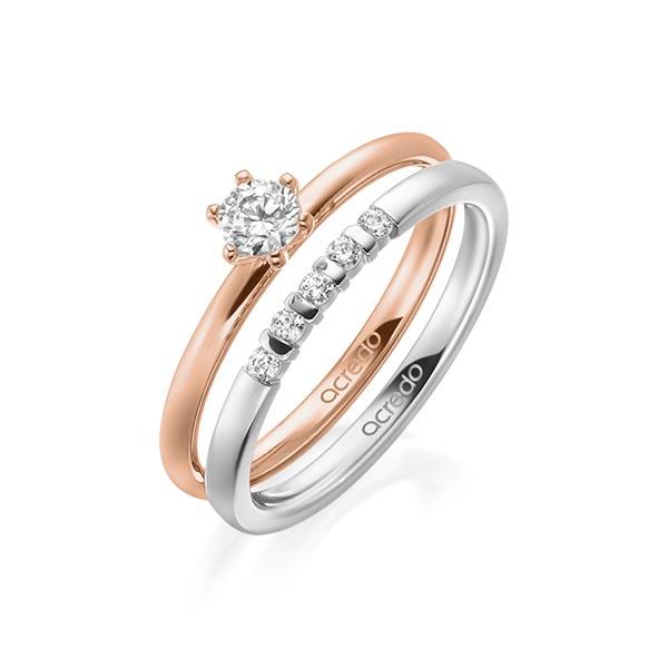 Verlobungsring Diamantring 0,25 ct. tw, si Rotgold 750