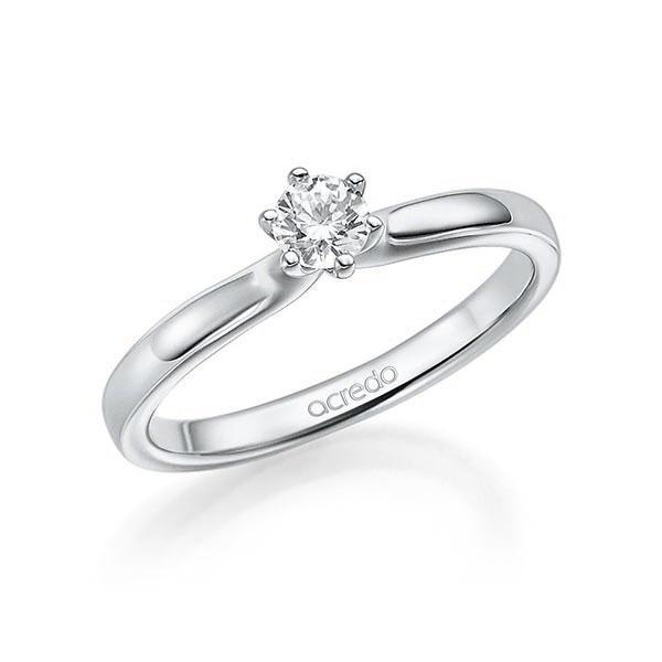Verlobungsring Diamantring 0,25 ct. tw, si Weißgold 585