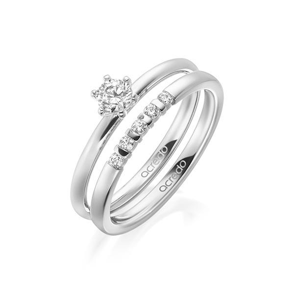 Verlobungsring Diamantring 0,25 ct. tw, si Weißgold 750