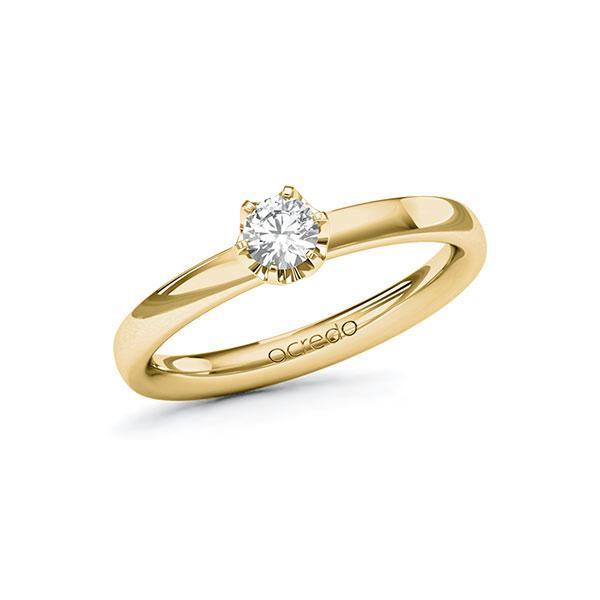 Verlobungsring Diamantring 0,25 ct. tw, vs Gelbgold 585