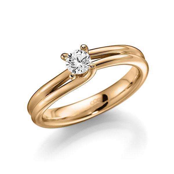 Verlobungsring Diamantring 0,25 ct. tw, vs Roségold 585