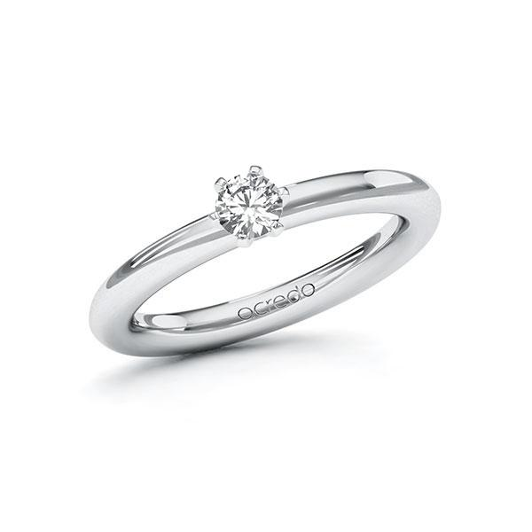 Verlobungsring Diamantring 0,25 ct. tw, vs Weißgold 585