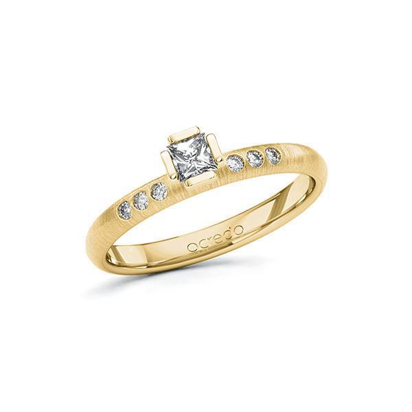 Verlobungsring Diamantring 0,26 ct. tw, si Gelbgold 585