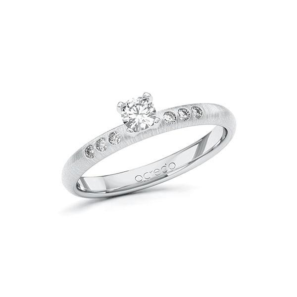Verlobungsring Diamantring 0,26 ct. tw, si Weißgold 585