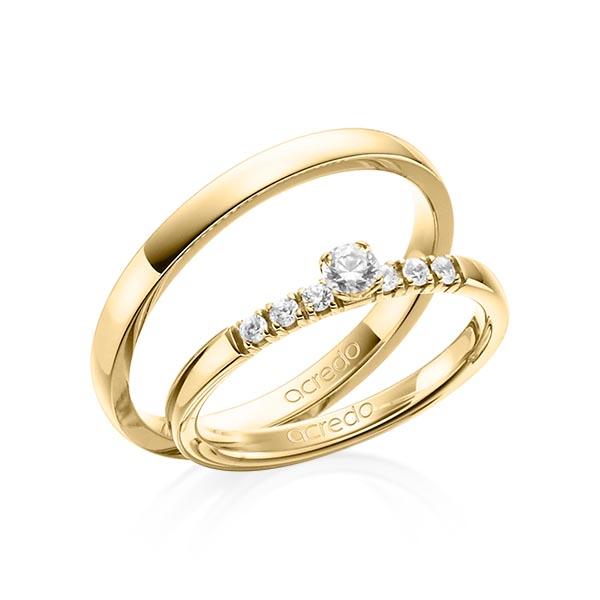 Verlobungsring Diamantring 0,27 ct. tw, si Gelbgold 585