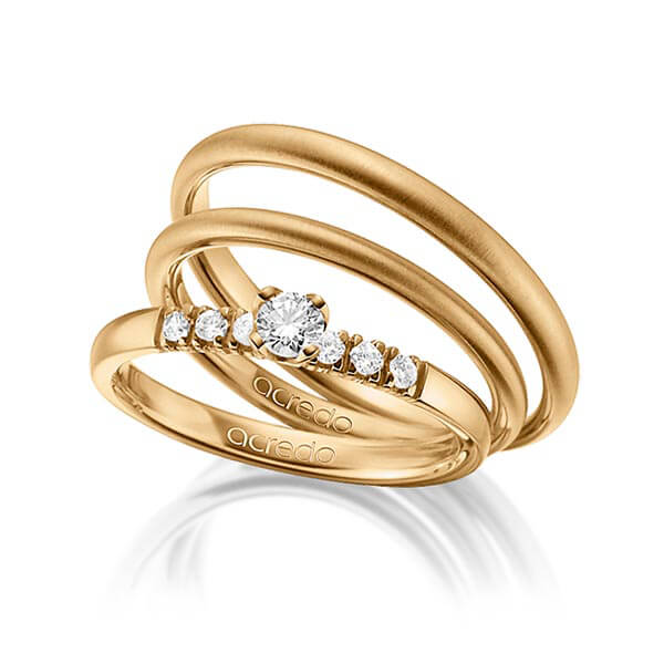 Verlobungsring Diamantring 0,27 ct. tw, si Roségold 585