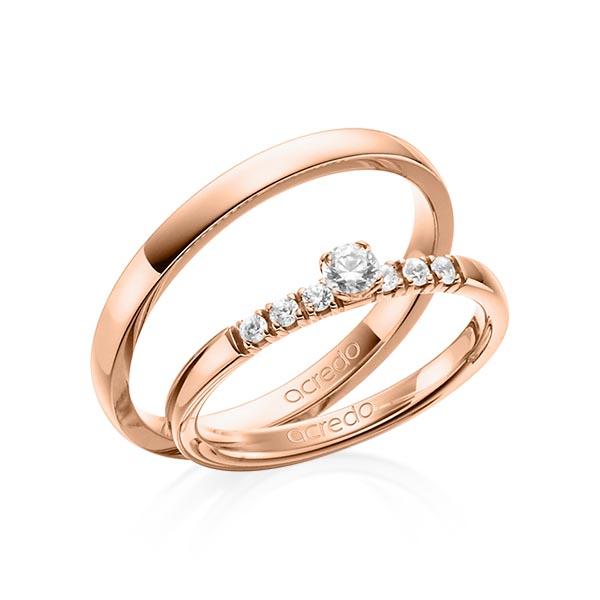 Verlobungsring Diamantring 0,27 ct. tw, si Rotgold 585