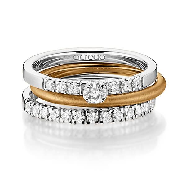 Verlobungsring Diamantring 0,27 ct. tw, si Weißgold 585